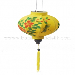 Hand-Painting-on-Gold-Raw-Silk-Lantern