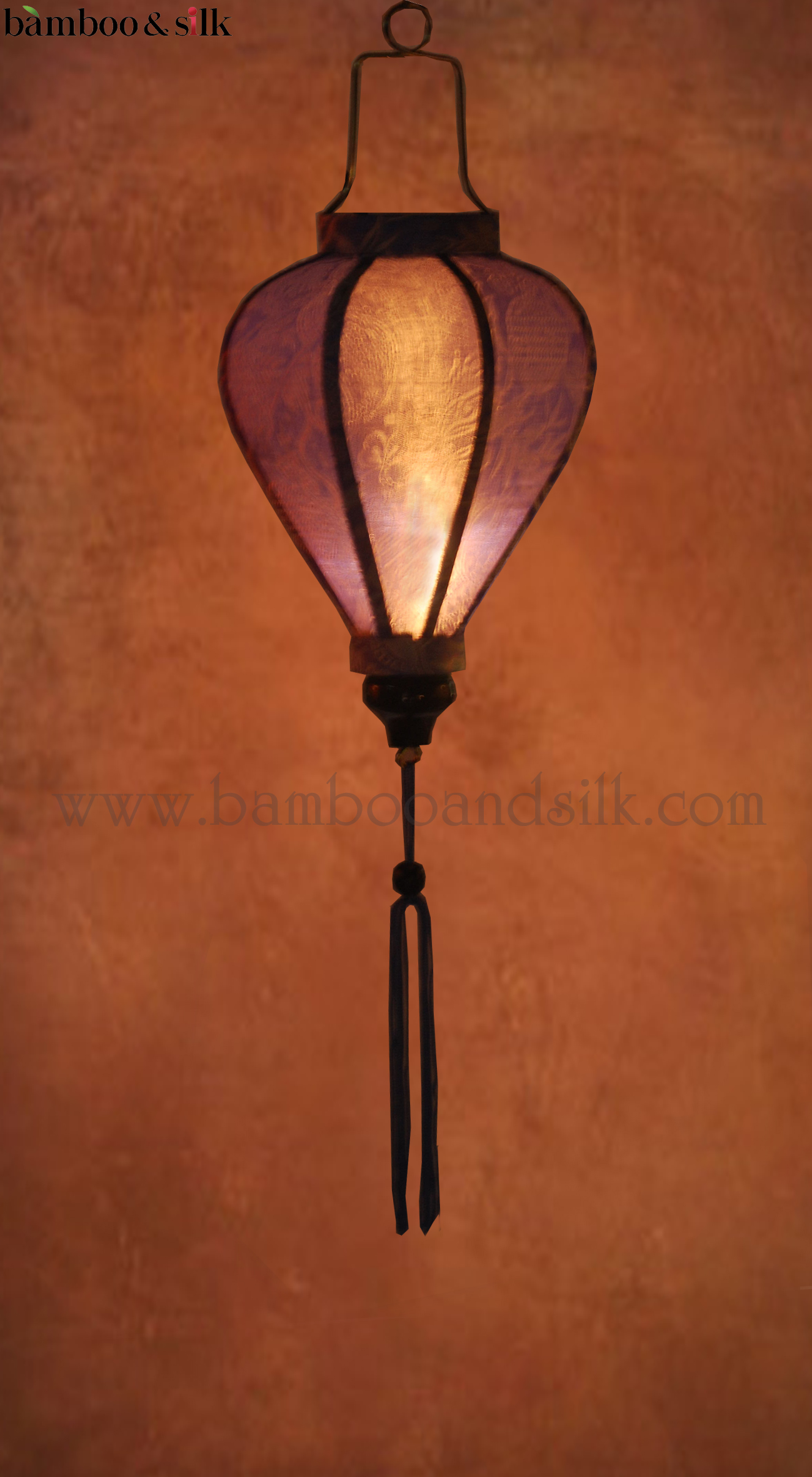 Light-Blue-Jacquard-Silk-Lanterns-with-Light