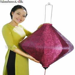 Diamond-Shape-Lantern-80-cm-in-Cherry-Jacquard-Silk