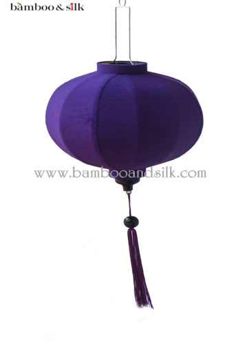 Round 35 cm Purple Raw Silk (L 35 A 17 RS)